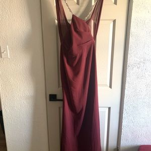 David's Bridal Bridesmaid dress in wine color